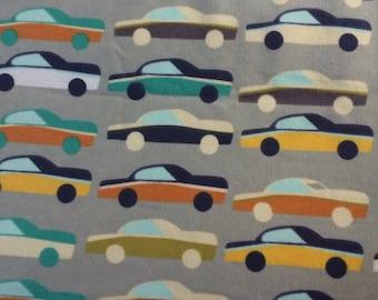 Retro Cars - FLANNEL Fabric - 27 inches