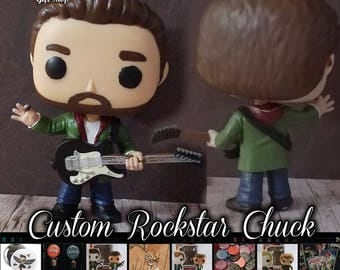 Rock Deities Chuck - Custom Funko pop toy