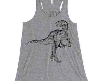 Clever Girl Velociraptor Tank, Summer Outdoor Craft Beer Shirt, Beerfest, Beer Girl, Dinosaur Racerback Tank, Beer Tank, Beer Lover