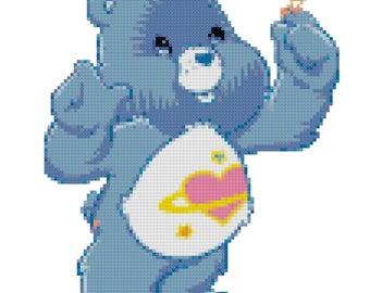 Day Dream Bear Cross Stitch Pattern (PDF)