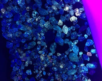 200g Double Terminated Oil Included Fluorescent Quartz Crystals