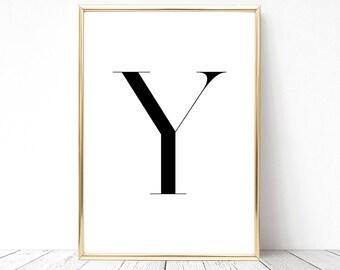 SALE -50% Letter Y Monogram Alphabet Name Digital Print Instant Art INSTANT DOWNLOAD Printable Wall Decor