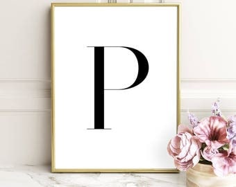 SALE -50% Letter P Monogram Alphabet Name Digital Print Instant Art INSTANT DOWNLOAD Printable Wall Decor