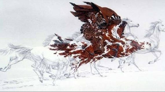 Eagle's Flight by Bev Doolittle framed signed and numbered print vintage art
