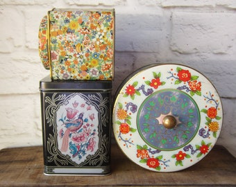 Three Floral Tins - Instant Collection Daher Style Tins