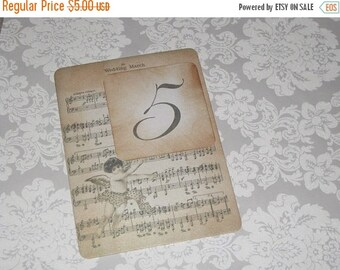 New Year Sale Vintage Style Paris Music Notes Cherub Luxury Table Numbers/Names Wedding Original Design