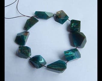 New,Faceted Blue Opal Gemstone Loose Beads,1 Strand,22cm In The Lenght,29x10x9mm,20x14x13mm,49.8g(g0699)