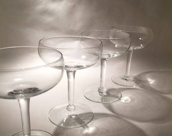 5 Vintage Champagne Coupes