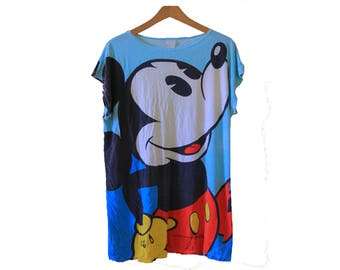 Vintage 80's Mickey Mouse Night Shirt