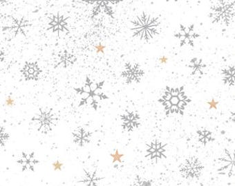 Woodland Wonder, Winter, Snowflakes, Snow, Gray / White