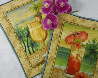 Quilted Trivets - Tropical Punch  Set #4