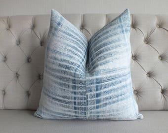 "22""By22, Vintage Cushion covers Indigo batik Hmong Handwoven Batik Hemp Fabric,Scatter cushions and Pillows,"