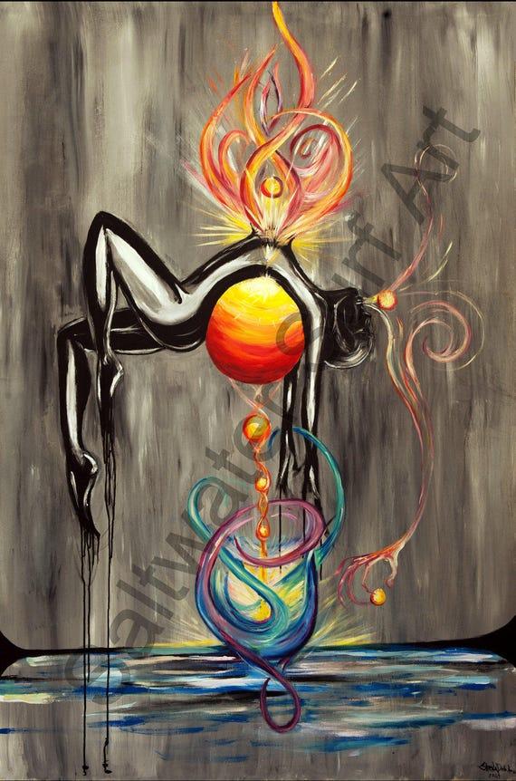 Enlightened Art, Large 8'x4' Yoga Art