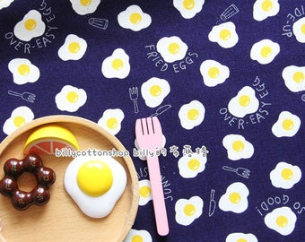 billycottonshop - m348_55 - sunny side up eggs fabrics - cotton linen fabrics - half Yard ( 3 color)