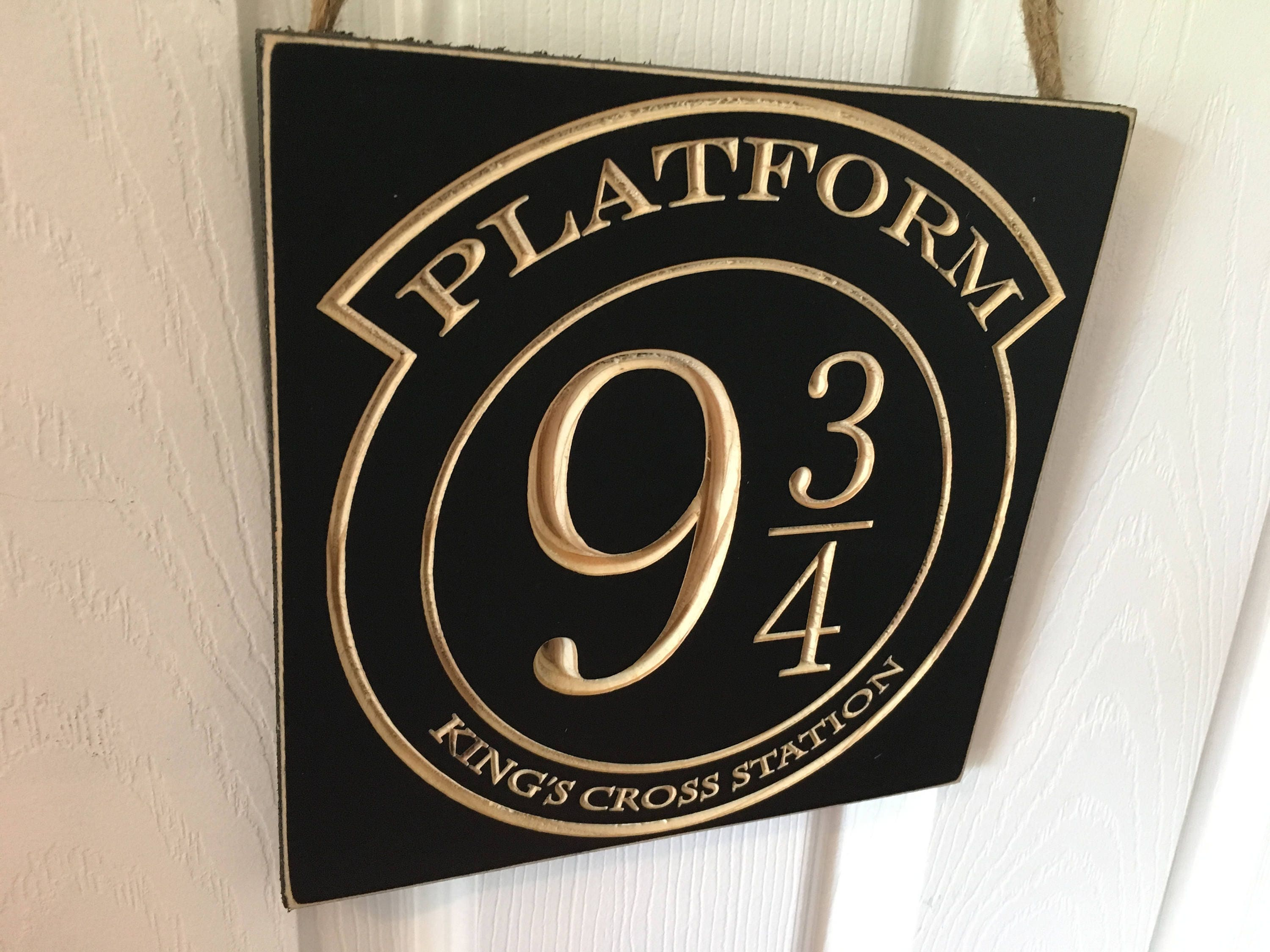 Engraved Door Hanger Sign Cnc Carved Harry Potter Inspired
