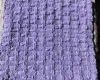 Purple Cottom Dish Cloth