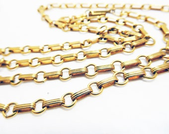 """Gold tone Chain Necklace Vintage long and short Intricate lovely 24"""" chain"""