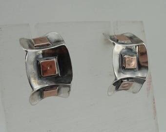New israel design 9k yellow Gold 925 sterling Silver Stud Earrings (2905)