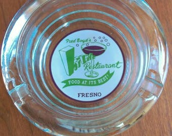 Vintage Fresno Fred Boyd's Hi Life Restaurant ashtray