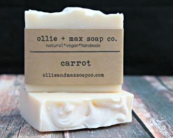 Carrot Soap, Cold Process Soap, Vegan Soap