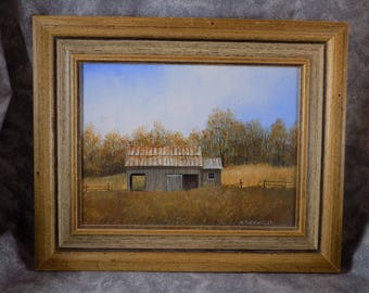 1980 Original Acrylic Painting in Frame by R Tuckwiller Roanoke Nice