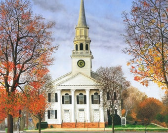 """Original Oil Painting """"The Church"""" by Jeff Suraci"""