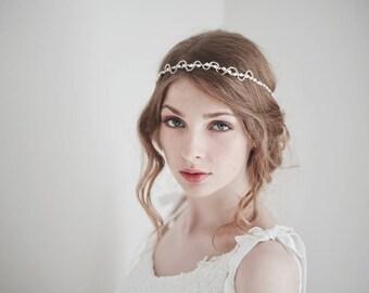 Pearl Headband, Bridal Headband, Pearl Hair Vine, Pearl Head Piece, Pearl Headpiece, Wedding Headpiece, Thin Pearl Headband