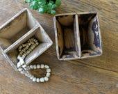 Vintage Chinese Grain Measure Wood Box Bucket