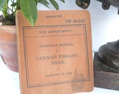 War Department German Phrase Book Technical Manual World War II Softcover Learn to Speak Language These Words May Save a Life Tools Travel