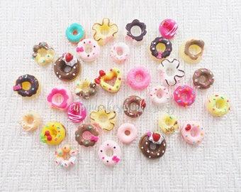 10pcs - Cute Doughnut Mix Decoden Cabochon (10-25mm) DNT013