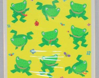 Hallmark Cards Heartline Vintage Leap Frogs Amphibian Sticker Pack New