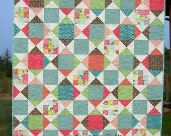 Choose Your Colors and Size, Baby, Lap, Twin, Queen, King, Quilt, Pillow Sham, Patchwork Quilt, Handmade, Scrappy Quilt, Busy Hands Quilts