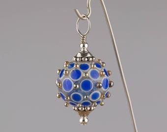 Blue & White Byzantine Pendant
