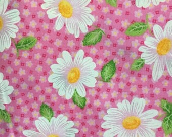 Fabric Traditions Fabric, Daisy Blossoms, Pink