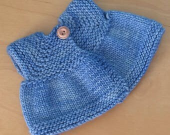 Sweater for 16-inch Waldorf Doll  Hand Knit Cardigan Sweater for Waldorf Dolls  **Blue Surf**