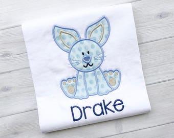 Boy Easter Bunny Applique Shirt
