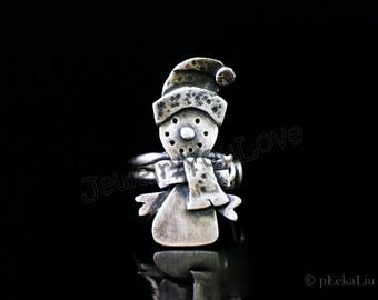 Sterling Silver Snowman Ring