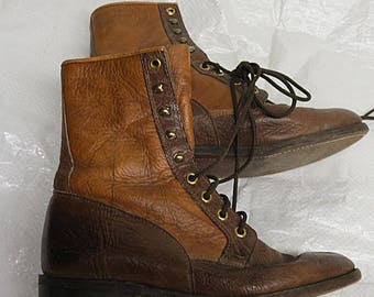 Rare Vintage Boulet Lace Up Ankle Boots Hiking Size 7.5
