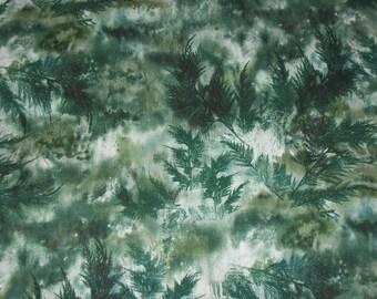 McKenna Ryan Fabric, Tree Fabric, Christmas Fabric, By The Yard, Hoffman California, Quilting Fabric, Sewing Apparel Fabric, Winter Fabric