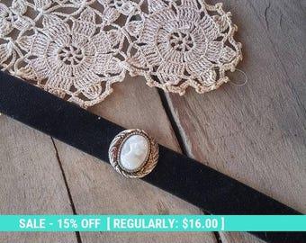 SUMMER SALE Black choker necklace black velvet choker goth choker thick choker black collar