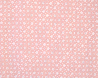 Petite Pink Flower Fabric, 100 Percent Cotton, Fabric by the Yard