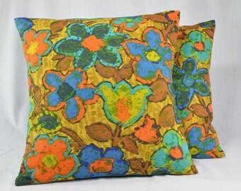 vintage pillow cover retro pillow floral pillow cushion cover throw pillow