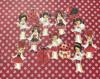 Lady Bug Divas 2 14 large, African American decorative planner stickers. Will fit most planners