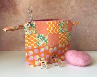 Sherbert patchwork project bag