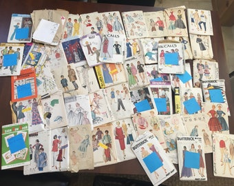 Huge Collection Of Vintage Sewing Patterns - Vogue - McCalls - Simplicity - Butterick