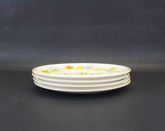 Vintage Mikasa 'Everfresh' Floral Dinner Plates, Set of 4 (E8766)