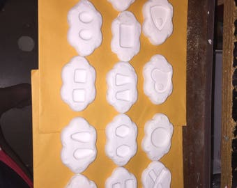 Beautiful Lot of 14 various Geometric shaped stained glass Frit kiln molds