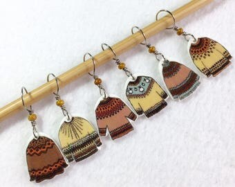 Icelandic sweater stitch markers, snag free, knitting accessory, fun gift for knitters