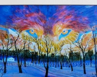 wolf art , Native American art, animal art wolves , Eli Thomas Art , totem animal art, nature art , wildlife art, holiday gift idea, animals