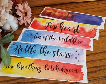 Throne of Glass Watercolor Bookmark, Aelin Galthynius, Celaena Sardothien, Gift For Booklover, Young Adult Bookmark